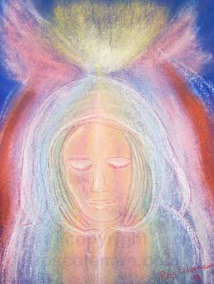 Angel Portrait by Ros Coleman Psychic Artist