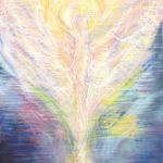 Angel painting in pastel by Ros Coleman
