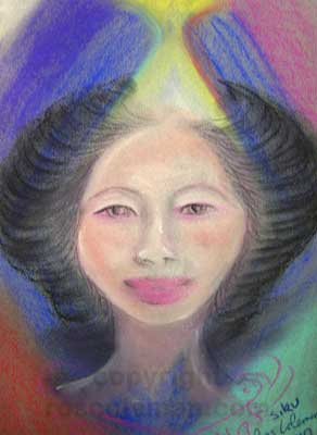 Spirit Guide Portrait by Ros Coleman Psychic Artist