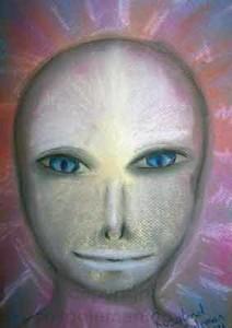 Grey-alien-spirit-guide-by-ros-coleman-psychic-artist