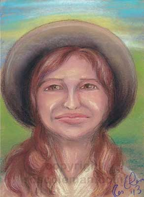 Past Life Portrait by Ros Coleman Psychic Artist