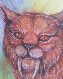 Prehistoric-Lynx-spirit-guide-by-ros-coleman-psychic-artist